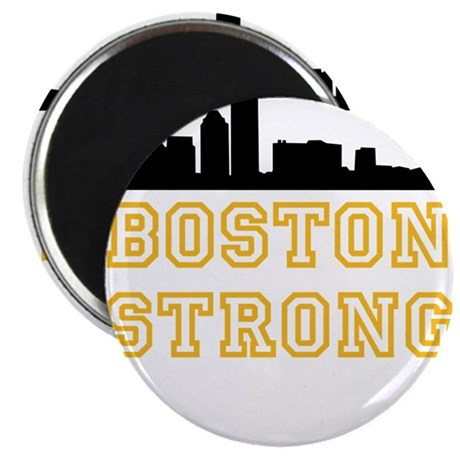 "BOSTON STRONG GOLD AND BLACK 2.25"" Magnet (10 pack"