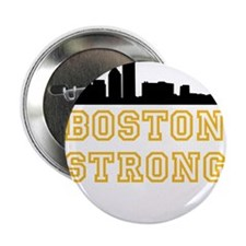 """BOSTON STRONG GOLD AND BLACK 2.25"""" Button (100 pac"""