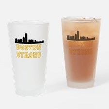 BOSTON STRONG GOLD AND BLACK Drinking Glass