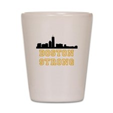 BOSTON STRONG GOLD AND BLACK Shot Glass