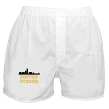 BOSTON STRONG GOLD AND BLACK Boxer Shorts