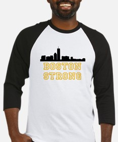 BOSTON STRONG GOLD AND BLACK Baseball Jersey