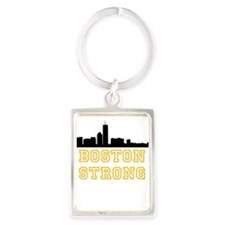 BOSTON STRONG GOLD AND BLACK Keychains