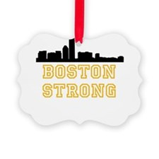 BOSTON STRONG GOLD AND BLACK Ornament