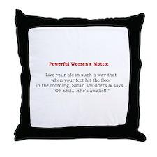 Powerful Women's Motto Throw Pillow