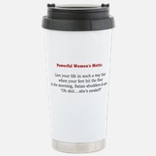 Powerful Women's Motto Stainless Steel Travel Mug