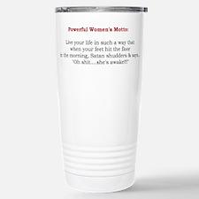 Powerful Women's Motto Travel Mug