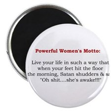 """Powerful Women's Motto 2.25"""" Magnet (10 pack)"""