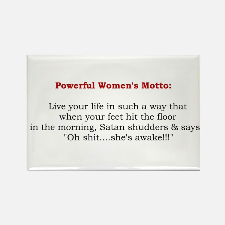 Powerful Women's Motto Rectangle Magnet