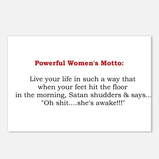 Powerful Women's Motto Postcards (Package of 8)