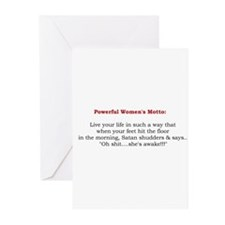 Powerful Women's Motto Greeting Cards (Pk of 20)