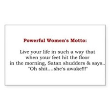 Powerful Women's Motto Rectangle Decal