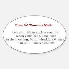 Powerful Women's Motto Oval Sticker (10 pk)