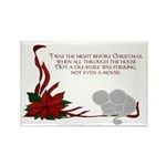 Christmas mouse Rectangle Magnet (10 pack)
