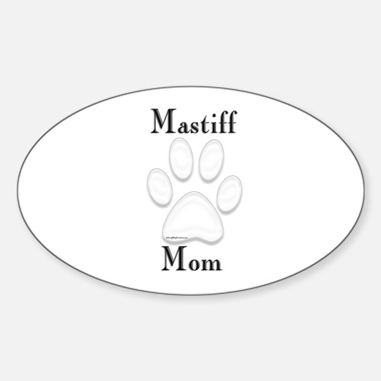 Mastiff Misc 4 Oval Decal
