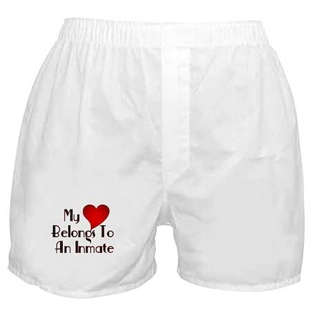 Heart Belongs to Inmate Boxer Shorts