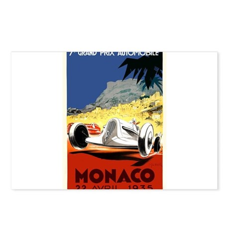 Antique 1935 Monaco Grand Prix Race Poster Postcar