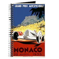 Antique 1935 Monaco Grand Prix Race Poster Journal