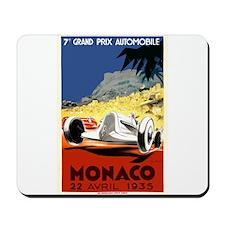 Antique 1935 Monaco Grand Prix Race Poster Mousepa