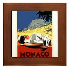 Antique 1935 Monaco Grand Prix Race Poster Framed