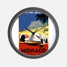 Antique 1935 Monaco Grand Prix Race Poster Wall Cl