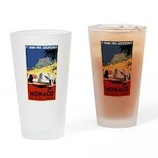 Antique 1935 Monaco Grand Prix Race Poster Drinkin