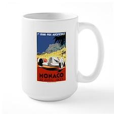 Antique 1935 Monaco Grand Prix Race Poster Mug