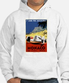Antique 1935 Monaco Grand Prix Race Poster Hoodie