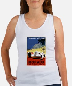 Antique 1935 Monaco Grand Prix Race Poster Tank To