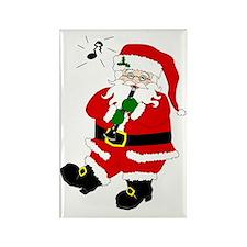 Santa Plays Clarinet Christmas Rectangle Magnet