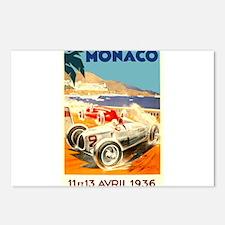 Antique 1936 Monaco Grand Prix Race Poster Postcar