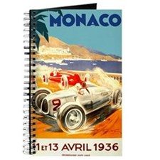 Antique 1936 Monaco Grand Prix Race Poster Journal