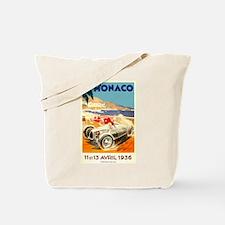 Antique 1936 Monaco Grand Prix Race Poster Tote Ba