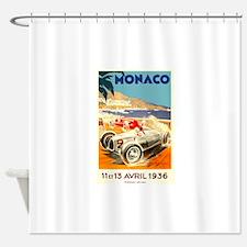 Antique 1936 Monaco Grand Prix Race Poster Shower