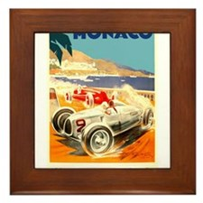 Antique 1936 Monaco Grand Prix Race Poster Framed