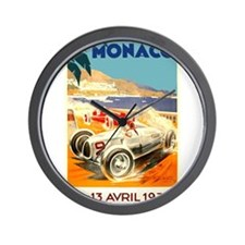 Antique 1936 Monaco Grand Prix Race Poster Wall Cl