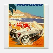 Antique 1936 Monaco Grand Prix Race Poster Tile Co