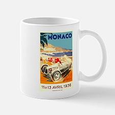 Antique 1936 Monaco Grand Prix Race Poster Mug