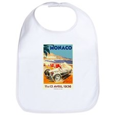 Antique 1936 Monaco Grand Prix Race Poster Bib