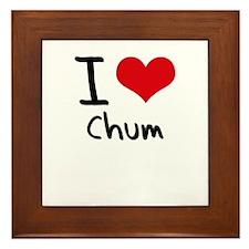 I love Chum Framed Tile