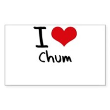 I love Chum Decal