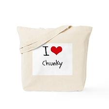 I love Chunky Tote Bag