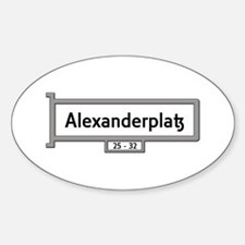 Alexanderplatz, Berlin - Germany Sticker (Oval)