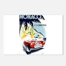 Antique 1952 Monaco Grand Prix Race Poster Postcar