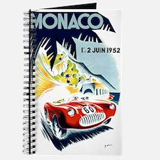 Antique 1952 Monaco Grand Prix Race Poster Journal