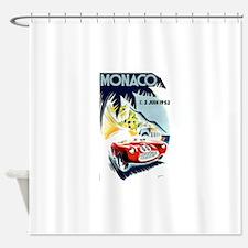 Antique 1952 Monaco Grand Prix Race Poster Shower