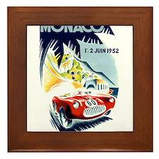 Antique 1952 Monaco Grand Prix Race Poster Framed