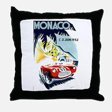 Antique 1952 Monaco Grand Prix Race Poster Throw P