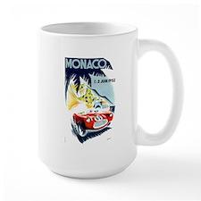 Antique 1952 Monaco Grand Prix Race Poster Mug