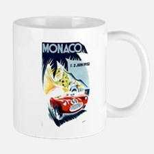 Antique 1952 Monaco Grand Prix Race Poster Mug